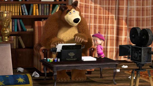 Маша и Медведь  День кино