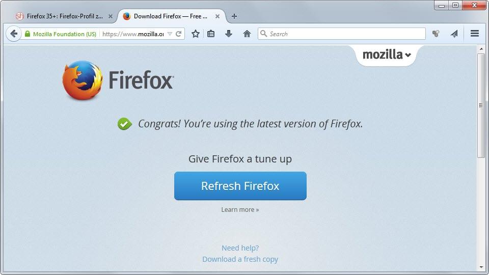 Firefox Setup 52.3.0 Kompyuter Uchun